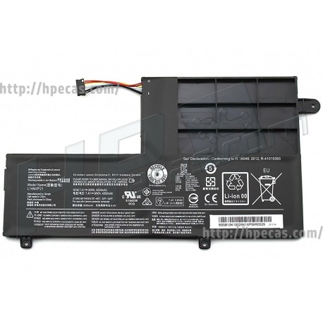 Lenovo Bateria compatível Tesla 4C 7.4V 4.05Ah 30Wh (L14L2P21, L14L3P21, L14M2P21, L14M3P21)