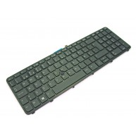 Teclado HP ZBOOK 15 / 17 G2 Series Preto Retro-iluminado c/Pointing Stick (733688-131)