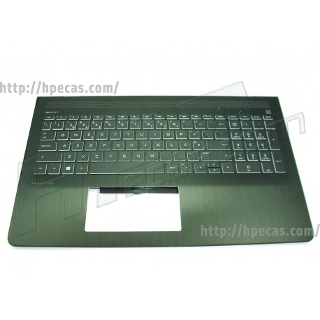 HP Top Cover Preto com Teclado Retro-iluminado Branco e TouchPad integrado (926894-131)