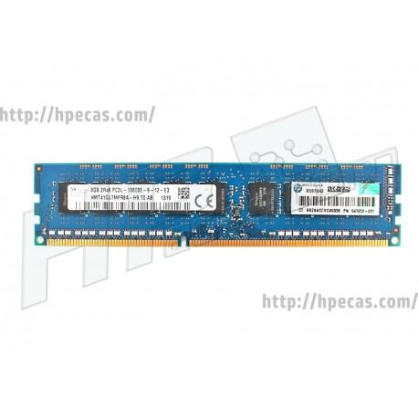 HPE 8GB (1x 8GB) 2Rx8 PC3L-10600E DDR3-1333 Unbuffered CL9 ECC 1.35V LV STD (647658-081, 647909-B21, 664696-001, HMT41GU7MFR8A-H9)