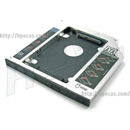 "OEM Conversor Slim SATA 5.25"" para 2.5"" SATA NoteBook 9.5MM Caddy"