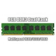 Memória 8 gigas 1066 / 1333 / 1600 MHz DDR3 Non-ECC 2Rx8