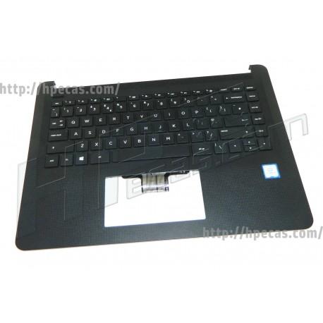 Teclado e Top Cover integrado Preto HP 14-B série Inglês (929650-031)