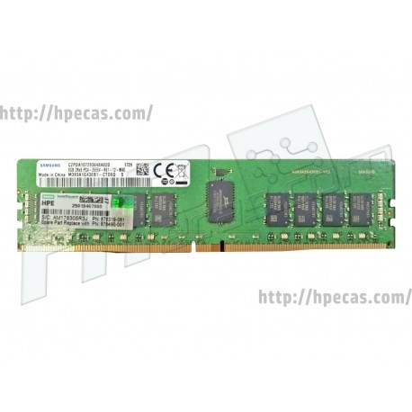 HP SM 8GB (1X8GB) 2RX4 PC4-21300V-R DDR4-2666 Registered CL19 ECC 1.2V STD (878490-001, 876181-B21, 876182-B21, 876319-081)