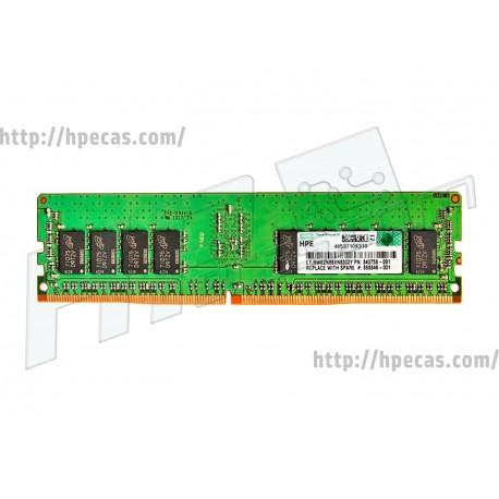 HP SM 16GB (1X16GB) 2RX4 PC4-21300V-R DDR4-2666 Registered CL19 ECC 1.2V STD (868846-001, 835955-B21, 840756-091)