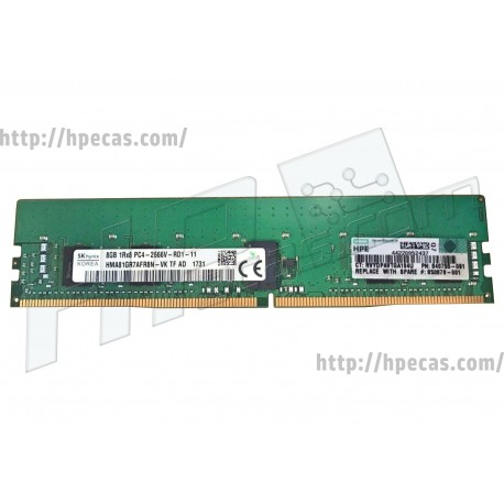 HP SM 8GB (1X8GB) 1RX4 PC4-21300V-R DDR4-2666 Registered CL19 ECC 1.2V STD (850879-001, 815097-B21, 840755-091)