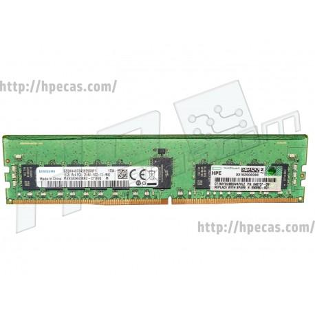 Memória HPE 16GB (1x 16GB) 1RX4 PC4-21300V-R DDR4-2666 REG ECC CL19 1.2V SmartMemory (850880-001, 815098-B21, 840757-091)