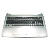 HP Top Cover Turbo Silver inclui TouchPad e Teclado PT HP 255-G5 256-G5 15-AY 15-AU 15-AS 15-BA 15-BG (855022-131, PK131O23A16)
