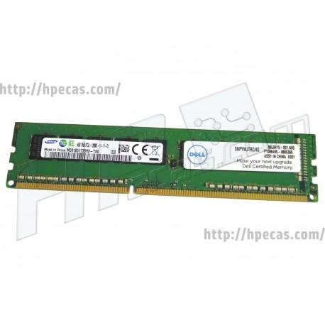 Memória DELL 4GB 1Rx8 PC3L-12800E DDR3-1600 Unbuffered CL5 ECC (A7303660, 0YWJTR, YWJTR, M391B5173BH0-YK0, SNPYWJTRC/4G)
