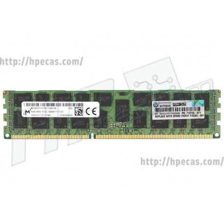 HP SM 8GB (1X8GB) 2RX4 PC3L-12800R DDR3-1600 Registered CL11 ECC 1.35V STD (713755-071, 713983-B21, 713984-B21, 715283-001)