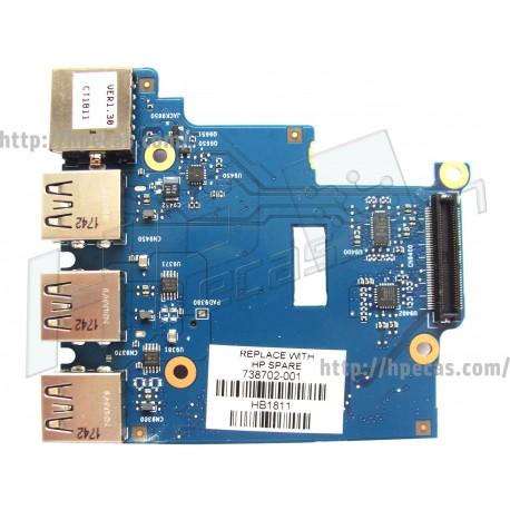 HP PROBOOK 650 G1 USB Board (738702-001)