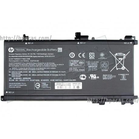 HP Bateria Original TE03XL OMEN 15-AX, PAVILION 15-BC series (849570-541, 849910-850, HSTNN-UB7A)