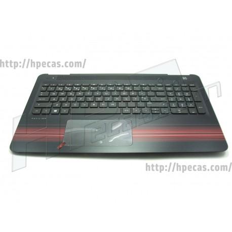 HP PAVILION 15-AW Top Cover Preto inclui TouchPad e Teclado PT (903369-131)