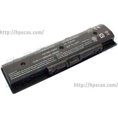 HP Bateria PI06 Compatível 6C 10.8V 48Wh 4.4Ah (710416-001, FQ107AV, H6L38AA)
