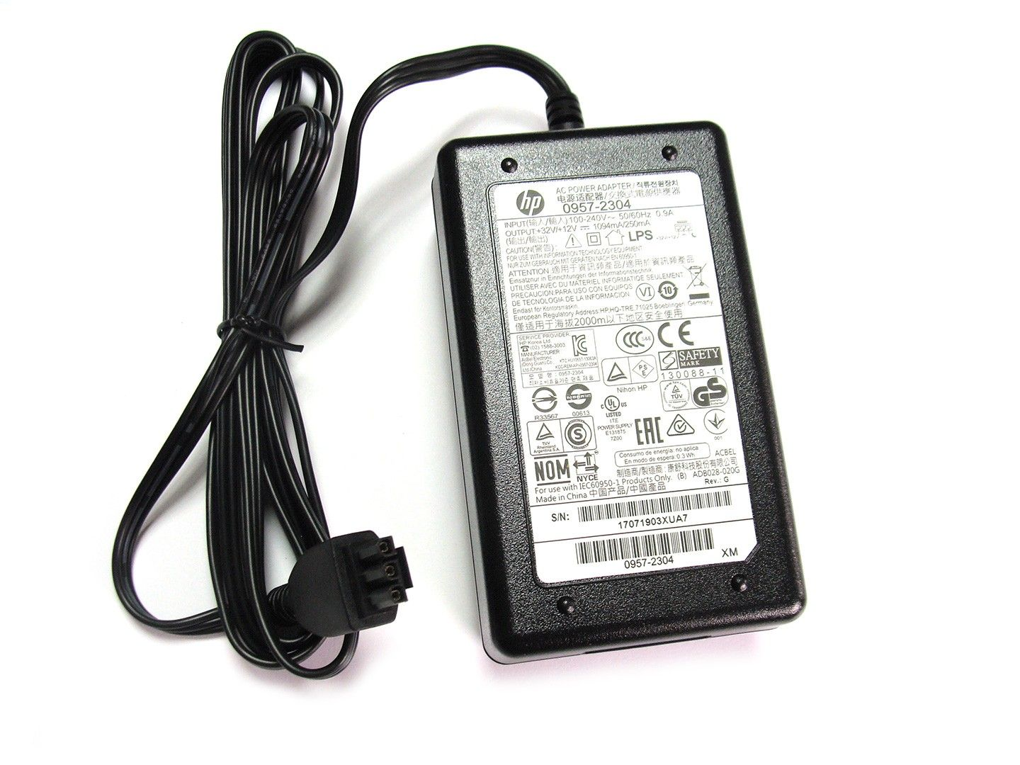Original AC Power Supply Adapter 0957-2304 32V 1094mA For HP pro3610 7110 7510