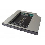 Conversor de ODD para SSD M.2 - Drive DVD Portátil 9.5mm Caddy (CONHDDSSD9M2) N
