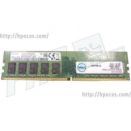 DELL 16GB (1X16GB) 2RX8 PC4-19200T-E DDR4-2400 Unbuffered CL17 ECC 1.2V STD (A9755388, SNPCX1KMC/16)
