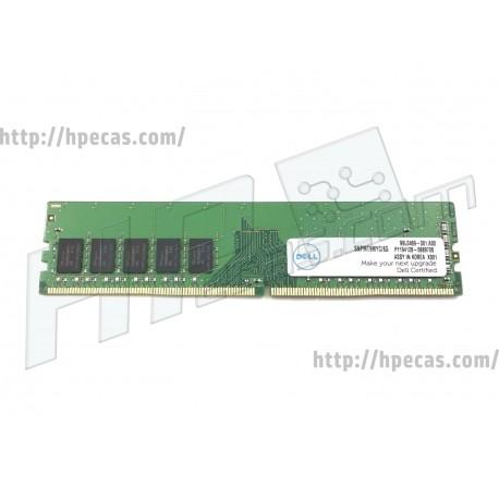 DELL 8GB (1X8GB) 1RX8 PC4-19200T-E DDR4-2400 Unbuffered CL17 ECC 1.2V STD (A9654881, SNPMT9MYC/8G)