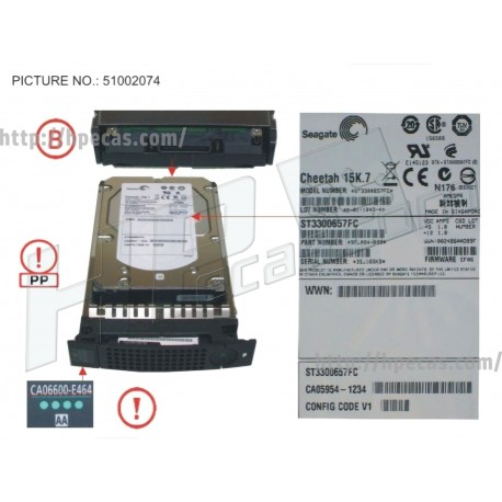 FUJITSU HDD 300GB/15KRPM 4GBPS X15.7 FC (CA06600-E464, 34028857) R