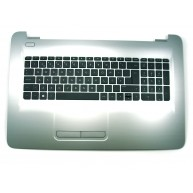 HP 17-X0, 17-X1, 17-Y0 Top Cover c/Teclado Portugues c/TouchPad s/Backlight Turbo Silver (856699-131)