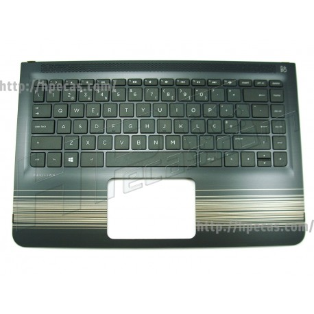 HP PAVILION 13-U0, 13-U1 Top Cover c/Teclado Portugues s/TouchPad s/Backlight Modern Gold (856038-131)