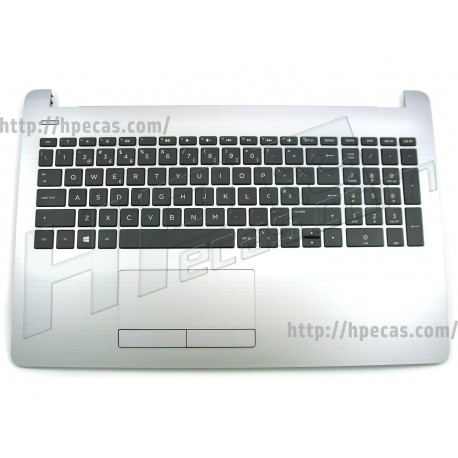 HP Top Cover Asteroid Silver inclui TouchPad e Teclado PT HP 250 G6, 255 G6 (929904-131)