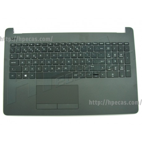 HP Top Cover Dark Ash Silver inclui TouchPad e Teclado PT HP 250 G6, 255 G6 (929906-131)