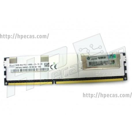 HPE 32GB (1x32GB) 4Rx4 PC3-14900L-13 ECC LRDIMM 1.5V SmartMemory 240-pin Dimm STD (708643-B21, 715275-001, 712384-081, 708643-S21) N