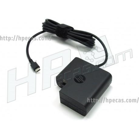 Carregador Original HP 65W 20V 3.25A USB-C nPFC Dark Ash Silver (AC139, 1HE08AA, 860209-850, 918170-002)