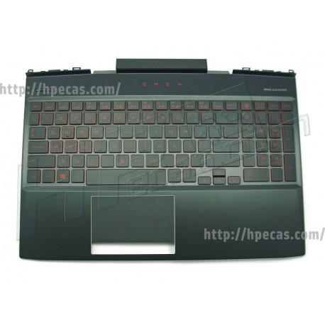 HP OMEN 15-DC Top Cover com Teclado Dragon Red com Red Backlight Portugues (L24369-131, L30194-131)