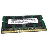 Memória Sodimm 4GB DDR3 1066 / 1333 / 1600Mhz Dual rank (N)