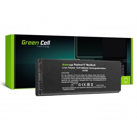 Green Cell Bateria para Apple Macbook 13 A1181 2006-2009 (black) - 11,1V 5200mAh (AP02)