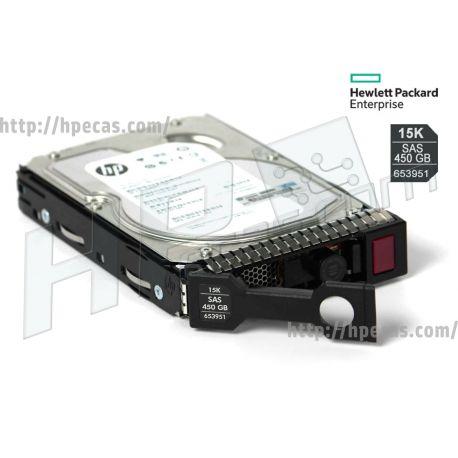 """HPE 450GB 15K 6Gb/s DP SAS 3.5"""" LFF HP 512n ENT Gen8-Gen10 SC Not for MSA HDD (652615-B21, 653951-001) N"""
