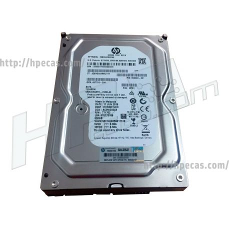"HPE 500GB 7.2K 3Gb/s SATA 3.5"" LFF NHP 512n RW HDD (504339-001, 633980-001, 633986-001, 636929-001, 637327-001, 647466-001, BU934AV) R"