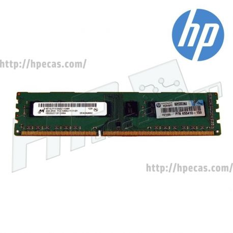 HP 4GB (1x4GB) 2Rx8 PC3-12800U-11 1.5V 240-pin Dimm (655410-150, 655410-571, 671613-001, 688600-001, 717046-001) N