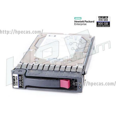 """HPE 900GB 10K 6Gb/s DP SAS 2.5"""" SFF HP 512n ENT for EVA M6625 ST SSD (665749-001, QR478A) N"""