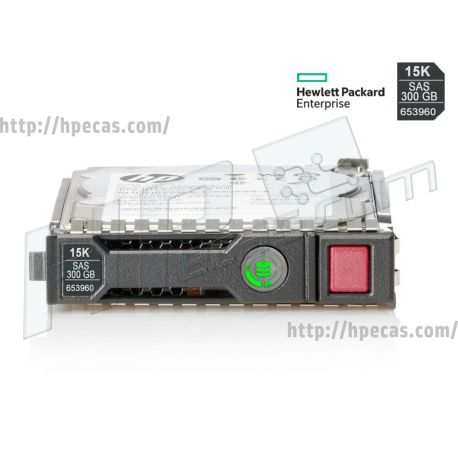 """HPE 300GB 15K 6Gb/s DP SAS 2.5"""" SFF HP 512n ENT Gen8-Gen10 SC Not for MSA HDD (652611-B21, 652611-S21, 653960-001, 731027-B21, 731042-001) R"""