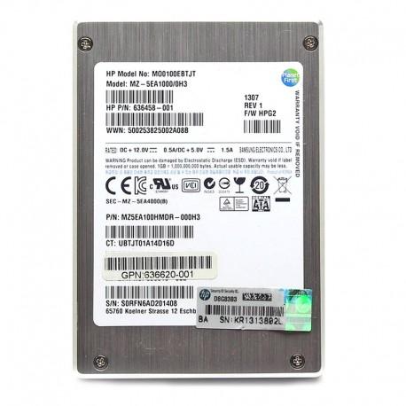 """636621-B21 HP 100GB 3GB/s 2.5"""" SFF SATA QR MLC SSD"""
