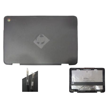 HP Back Cover Lcd W Antenna Grey (928078-001)
