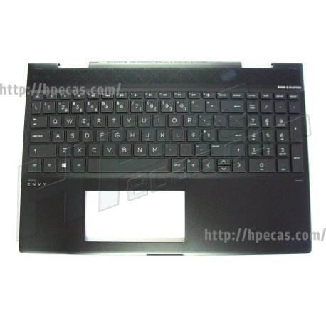 HP ENVY 15-CN Keyboard/Top Cover with Backlight Dark Ash Silver (490.0EH07.BL06, L13652-131, L20748-131, L23266-131, SG-93330-XPA, SN8172BL2 PT) N