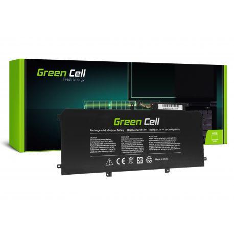 Bateria Green Cell Compatível Zenbook UX305CA, UX305FA 3 células 11.4V 45Wh 3947mAh (AS141) N