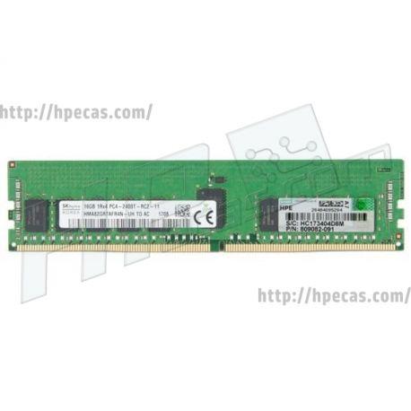 Memória HPE 16GB (1x 16GB) 1Rx4 PC4-2400T-R REG ECC CAS-17-17-17 SM 1.2V STD (805349-B21, 809082-091, 819411-001, HMA82GR7AFR4N-UH, M393A2K40BB1-CRC0Q) R