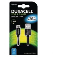 DURACELL Cable USB Type A to Micro USB B 5Pin Black