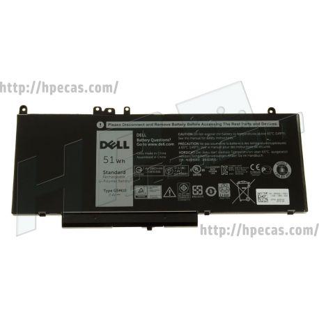 Bateria DELL G5M10 Original de 4 células 7.4V 51Wh 6.90Ah (05XFWC, 5XFWC,07FR5J, 7FR5J,08V5GX, 8V5GX,0F5WW5, F5WW5,0G5M10, G5M10,0HK60W, HK60W,0K9GVN, K9GVN,0R9XM9, R9XM9,0VMKXM, VMKXM,0WYJC2, WYJC2,0YM3TC, YM3TC) N
