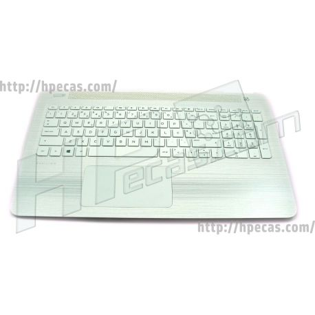 HP PAVILION 15-AW Top Cover, TouchPad, Blizzard White, Teclado Portugues, Backlit (856044-131, 903377-131) N