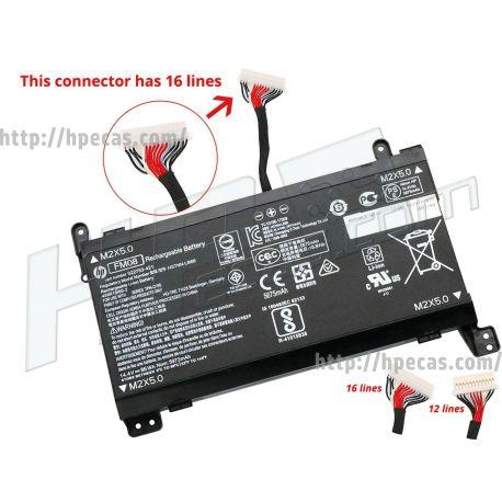 Bateria HP FM08 Original de 8 células 14.4V, 6000mAh (922753-421, 922977-855, FM08086, HSTNN-LB7B) N
