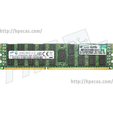 HPE 24GB (1x24GB) 3Rx4 PC3L-10600R-9 DDR3-1333 ECC 1.35V LV-RDIMM 240-pin STD (700404-B21, 701809-081, 707301-001, 716322-081, 716324-B21, 718689-001, 761501-B21) N