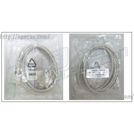 HPE DB9-female to micro-DB9-male connector connector, 6 Feet (72-in) long (038-004-207-003-084, 508297-001) N