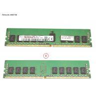 Fujitsu 8GB (1x8GB) 1Rx4 PC4-19200T-R 17-17-17 DDR4-2400 ECC 1.20V RDIMM 288-pin STD () N