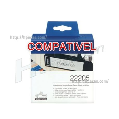 BROTHER Compativel Rolo Etiquetas 62mm x 30 (DK22205) C